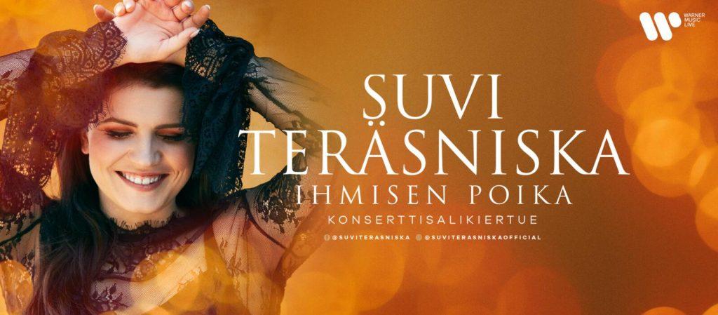 Suvi Teräsniska kiertueensa mainoksessa