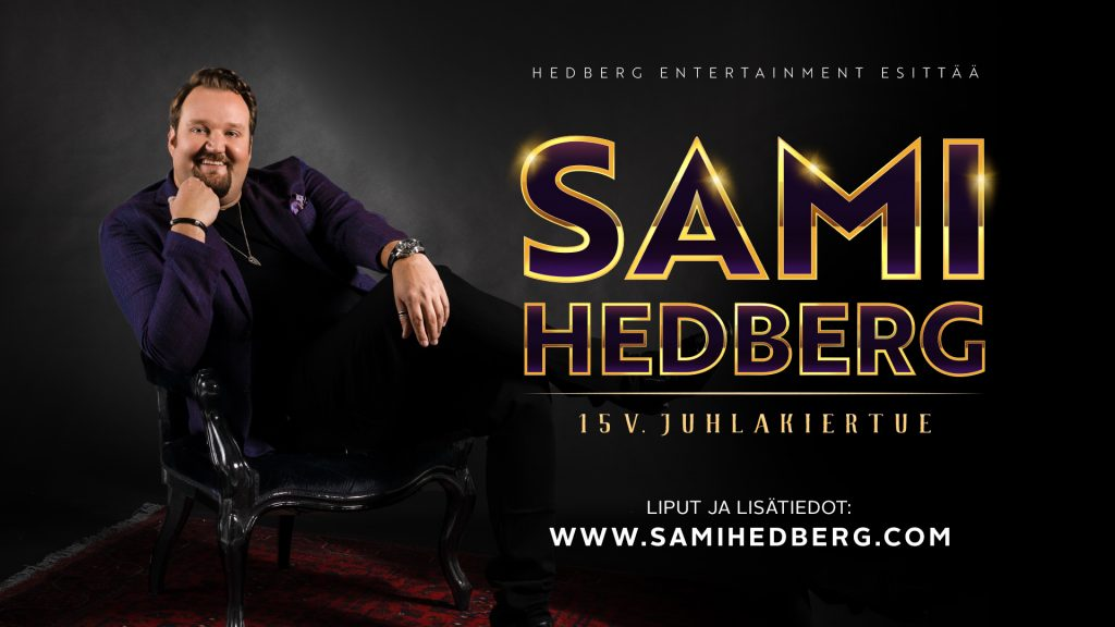 Sami Hedberg juhlakiertueensa mainoksessa