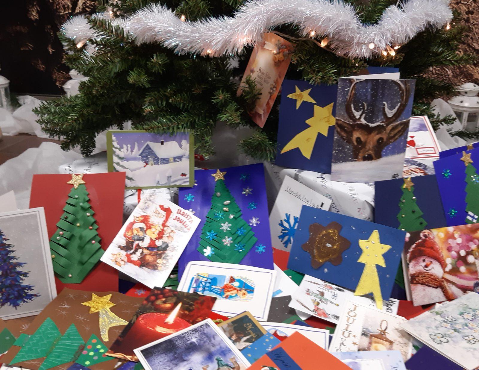 Hyvää joulua joulukortteja