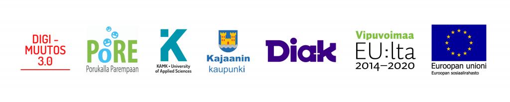 Logobanneri DM-hanke ja Pore-hanke