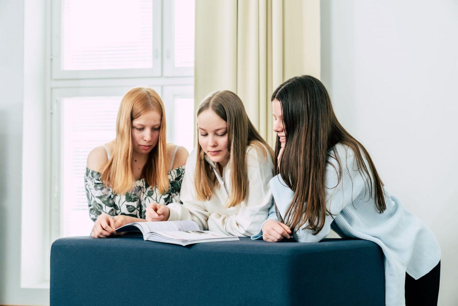 Nuoret opiskelevat yhdessä