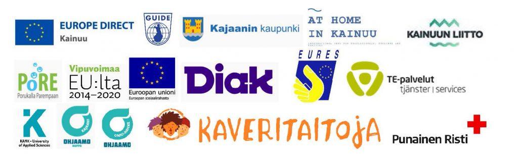 Eurooppapäivän 9.5.2021 yhteistyötahojen logot