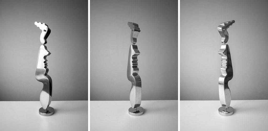 Kari Huhtamon teräsveistos Seisova figuuri, 1981