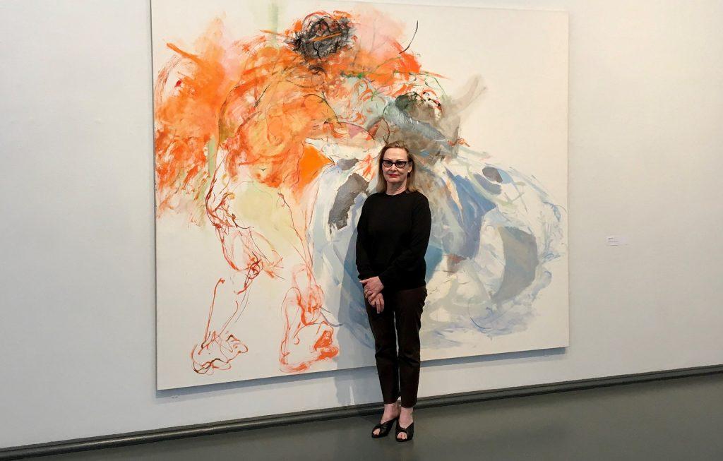 Marjatta Tapiola Kajaanin taidemuseossa, teos Fragonard, 2021